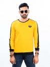 Yellow Printed Round Neck T-Shirt