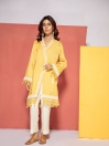 Yellow Embroidered Linen Shirt
