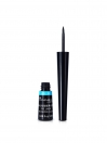 Rimmel London, Exaggerate Waterproof Liquid Eyeliner, Black. A black shade with a glossy finish.