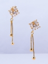 Flower Studs with Chain