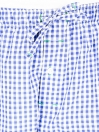 Blue and White Check Cotton Baggy Pajamas