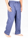 Azure Blue Cotton Blend Relaxed Pajamas