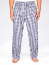 White and Purple Stripe Cotton Blend Relaxed Pajamas