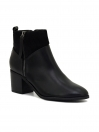 Black Mid-Top Ankle Boots