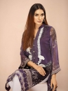Multi Colored Digital Printed & Embroidered Chiffon Shirt