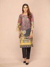 Multi Colored Digital Printed & Embroidered Karandi Shirt
