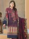 Multi Colored Embroidered Winter Cotton 3 Piece Suit