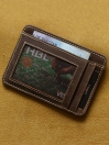 Pull up Vintage  Slim Card Holder
