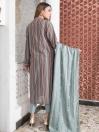 Multi Colored Striped Khaddar 2 Piece Suit