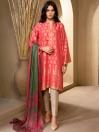 Pink Jacquard 2 Piece Suit