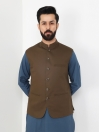 Olive Cotton Waistcoat for Men