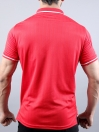 Red/White Athletic Fit Men's T-Shirt