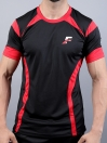 Black/Red Athletic Fit Men's T-Shirt