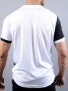 FIREOX Black & White Polyester Active Fit T-Shirt for Men