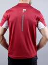 FIREOX Red & White Polyester Active Fit T-Shirt for Men