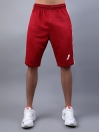 FIREOX Red & White Polyester Active Fit T-Shirt & Shorts for Men