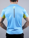FIREOX Sky Blue & Yellow Polyester Active Fit T-Shirt & Shorts for Men