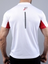 FIREOX White & Red Polyester Active Fit T-Shirt and Shorts for Men