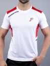 White & Red Actifit T-Shirt and Shorts