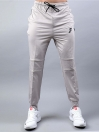 FIREOX  Silver & Black Polyester Active-wear Trouser for Men