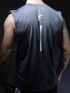 FIREOX  Sky & Grey Polyester Active Fit Training Tank Top for Men