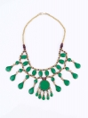 Green Three Layered Necklace