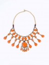 Orange Three Layered Necklace