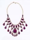 Purple Three Layered Necklace