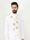 Off White Premium Quality Wool Stole