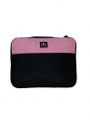 "BLACK & PINK LAPTOP SLEEVE 12"" MESSENGER BAG"
