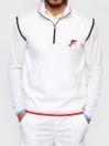 White Sleeveless Winter Sweater for Men