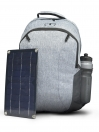 GREY SOLAR PANEL BACKPACK
