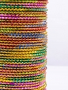 Multi Colored Rangoli Aluminium Bangles