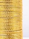 Gold Knockout Aluminium Bangles (12 Pieces Set)