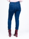 Blue Stretch Patched Denim Jenna Jeans