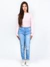 Light Blue Ripped Stretch Denim Jenna Jeans