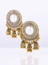 Youbella Geometric Drop Earrings