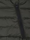 Olive Black Sleeveless Puffer Gilet Jacket