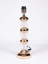 Triple Crystal Brass Lamp