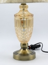 A Pair of Vienna Full Spectrum Crystal and Brass Table Lamp