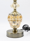 A Pair of Style Glowo Clear and Gold Table Lamp