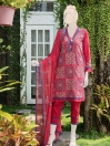 Red Embroidered Lawn 3 Piece Suit For Women