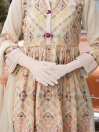 Beige Embroidered Lawn 3 Piece Suit For Women