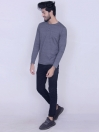 Charcoal Cotton Jersey for Men