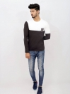 Black & White Cotton Jersey for Men