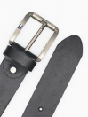 Black Cow Leather Belt for Men