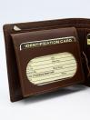 Brown Cow Leather Loop Wallet for Men