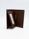 Brown Cow Leather Book Mini Wallet for Men