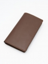 Brown Cow Leather Medium Long Plain Wallet for Men