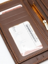 Brown Cow Leather Printed Long Wallet for Men